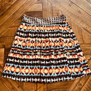 Printed Anthropologie skirt